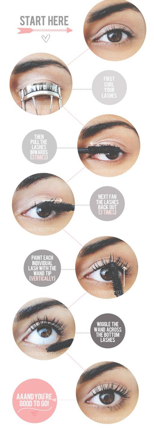 Come applicare il mascara