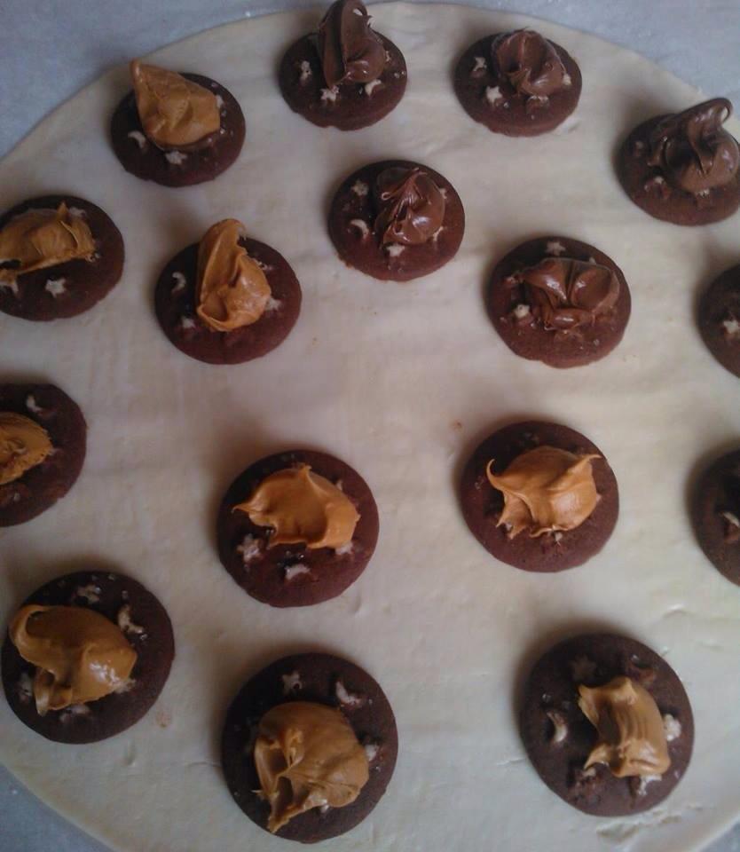 Saccottini di pastasfoglia ripieni di Pan di stelle e Nutella