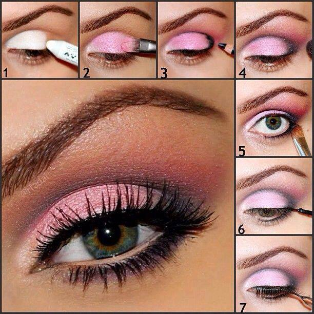 Il rosa è il colore che ogni donna ama indossare. Ecco a voi un fantastico  make up color rosa per i tuoi occhi, ideale soprattutto per chi ha gli occhi