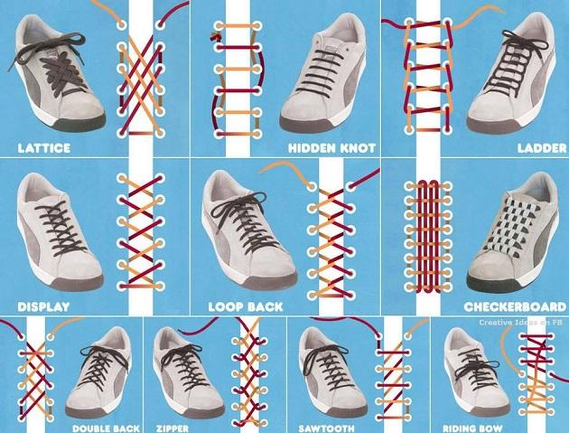 Modi diversi di allacciare le scarpe | Passionando