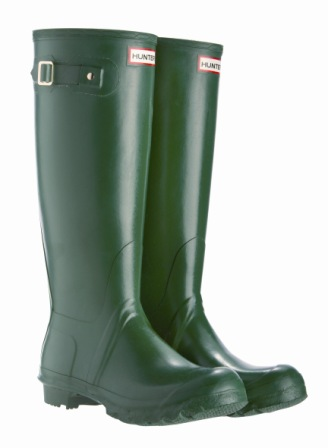 Hunter Clearance Wellington Original Tall Green Wellies_LRG