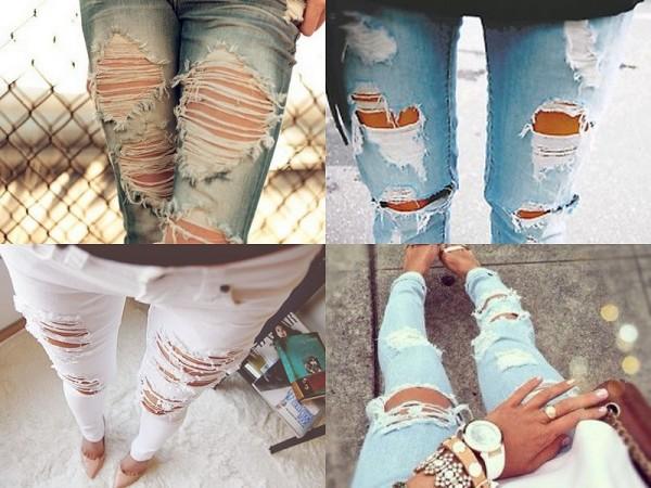 Come fare gli strappi e rendere pi? vintage i jeans Passionando