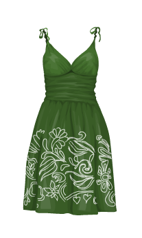 vestito verde estate summer dress green