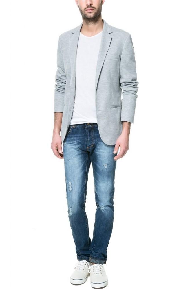 jeans maglietta e giacca uomo