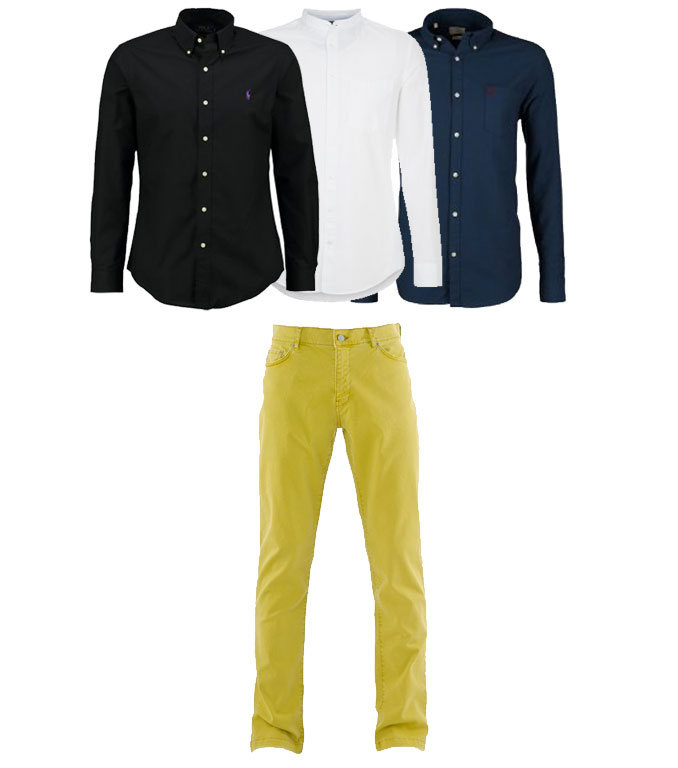 Outfit uomo verde lime