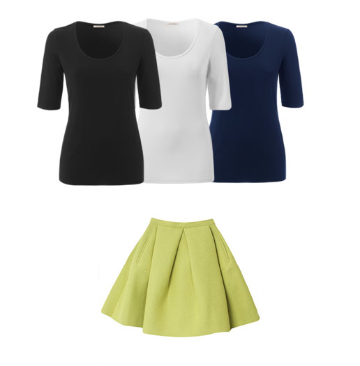 Outfit donna verde lime